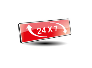 24 stunde service - Vektor 3d